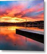 Lake Oneil Sunset Metal Print