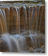 Lake Park Waterfall Metal Print