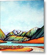 Lake Pearson 1999 Si Nz Metal Print by Barbara Stirrup