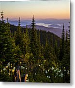 140701a-042 Lake Pend Oreille From The Cabinets Metal Print