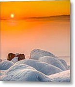 Lake Pepin Winter Sunrise Metal Print