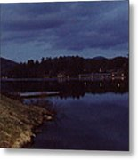 Lake Placid At Night Metal Print