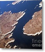 Lake Mead From Above Metal Print