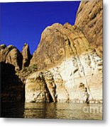 Lake Powell Rock And Sky Metal Print by Thomas R Fletcher
