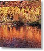 Lake Reflection In Fall 2 Metal Print