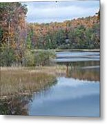 Lake Reflection Metal Print