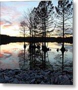 Lake Reflections At Sunset Metal Print