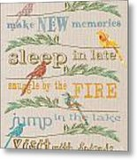 Lake Rules With Birds-c Metal Print