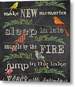 Lake Rules With Birds-d Metal Print