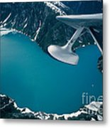 Lake Seen From A Seaplane Metal Print
