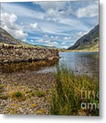 Lake Stone Wall Metal Print