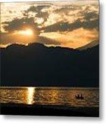 Lake Sunset Metal Print