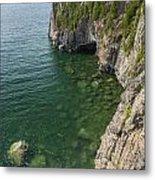 Lake Superior Cliff Scene 9 Metal Print