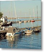 View Of The Harbor Metal Print