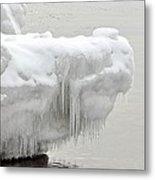 Lake Superior Ice Alligator Metal Print