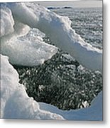 Lake Superior Ice Arch Metal Print