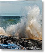 Lake Superior Waves Metal Print