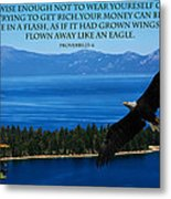 Lake Tahoe Eagle Proverbs Metal Print