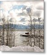 Lake Tahoe In Winter Metal Print by Denice Breaux