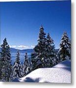 Lake Tahoe In Winter Metal Print