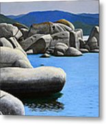 Lake Tahoe Rocky Cove Metal Print by Frank Wilson