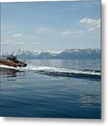 Lake Tahoe Waterskiing Metal Print