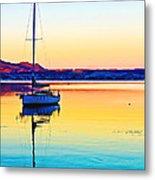 Lake Taupo Sailboat Metal Print