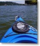 Lake View From Kayak Metal Print