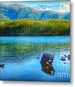 Lake View Of Mount Saint Helens  Metal Print