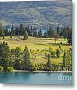 Lake Wakatipu And Queenstown Golf Course Metal Print