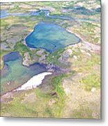 Lakes From The Seaplane In Katmai National Preserve-alaska Metal Print