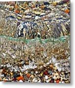 Lakeshore Rocks 2 Metal Print