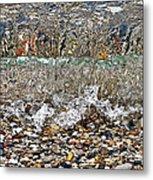 Lakeshore Rocks 4 Metal Print