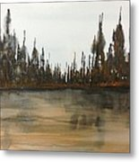 Lakeside - Autumn Orange Hue Metal Print