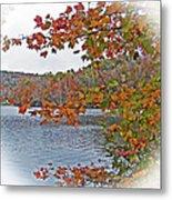 Lakeside In The Fall Metal Print