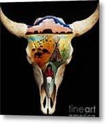 Lakota Bison Skull Metal Print