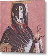 Lakota Indian Spirit Ceremonial Dress Metal Print by Billie Bowles