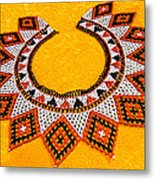 Lakota Souix Dance Collar Metal Print