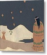 Lakota Woman With Winter Constellations Metal Print