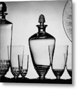 Lalique Glassware Metal Print
