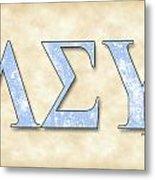 Lambda Sigma Upsilon - Parchment Metal Print
