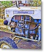 Lamborghini Classic Tractor Metal Print
