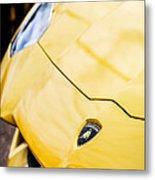 Lamborghini Hood Emblem -1661c Metal Print