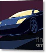 Lamborghini Murcielago - Pop Art Metal Print