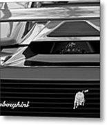 Lamborghini Rear View Emblem Metal Print by Jill Reger