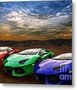 Lamborghini Triplet Metal Print