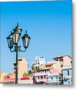 Lamp In Agios Nikolaos Metal Print