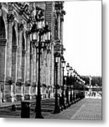 Lamp Post All Lined Up In Order Of Height Metal Print