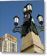 Lamp Post, China Metal Print