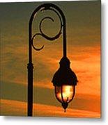 Lamp Post Glow Metal Print